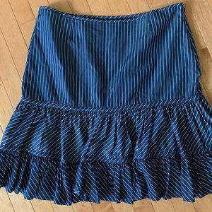 American Living Size 14 Navy & White Striped Skirt